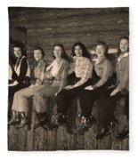 Texas Cowgirls 1950s Fleece Blanket