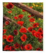 Texas Hill Country Wildflowers Fleece Blanket