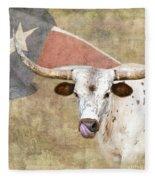Texas Longhorn # 2 Fleece Blanket