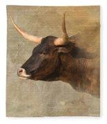 Texas Longhorn # 3 Fleece Blanket