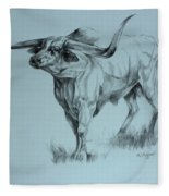 Texas Longhorn Fleece Blanket