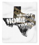 Texas Map Cool Fleece Blanket