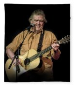 Texas Singer Songwriter Guy Clark In Concert Fleece Blanket