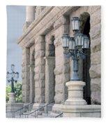 Texas State Capitol North Portico Fleece Blanket
