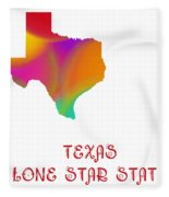 Texas State Map Collection 2 Fleece Blanket
