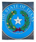 Texas State Seal Fleece Blanket