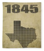 Texas Statehood Fleece Blanket