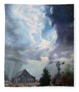 Texas Thunderstorm Fleece Blanket