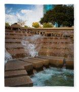 Texas Water Gardens Fleece Blanket