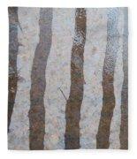 Textural Forest Fleece Blanket