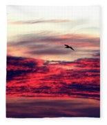 Textured Clouds Fleece Blanket