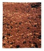 Texture In Red Fleece Blanket