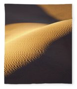 Texture Pattern On Sand Dunes Fleece Blanket