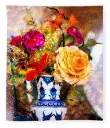 Textured Bouquet Fleece Blanket