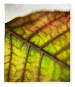 Textured Leaf Abstract Fleece Blanket
