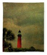 Textured Lighthouse Fleece Blanket