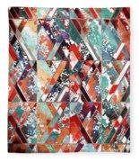 Textured Structural Abstract Fleece Blanket