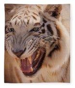 Textured Tiger Fleece Blanket
