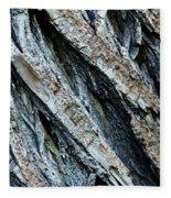 Textured Tree Bark Fleece Blanket