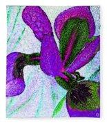 Textured Wild Purple Iris Fleece Blanket