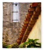 Textures In A Provence Village Fleece Blanket