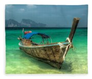 Thai Boat  Fleece Blanket