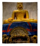 Thai Golden Buddha Fleece Blanket