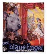 Thai Ridgeback Art Canvas Print - Der Blaue Engel Movie Poster Fleece Blanket