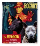 Thai Ridgeback Art Canvas Print - The Enforcer Movie Poster Fleece Blanket