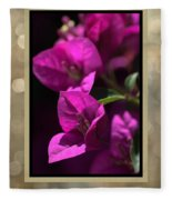 Thank You - Bougainvillea Flowers Fleece Blanket