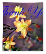 Thank You Card Fleece Blanket