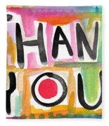 Thank You Card- Watercolor Greeting Card Fleece Blanket