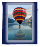 Thank You Hot Air Balloon In Alaska Fleece Blanket