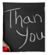 Thank You Sign On Chalkboard Fleece Blanket