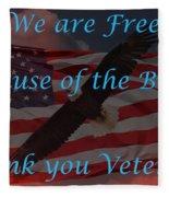 Thank You Veterans Fleece Blanket