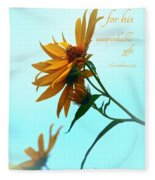 Thankfulness Fleece Blanket