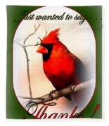 Thanks - Card Fleece Blanket