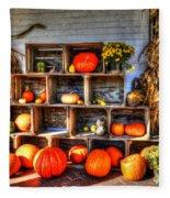Thanksgiving Pumpkin Display No. 1 Fleece Blanket