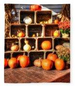 Thanksgiving Pumpkin Display No. 2 Fleece Blanket
