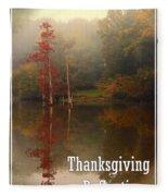 Thanksgiving Reflections Fleece Blanket