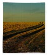 That Long Long Road Fleece Blanket