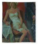 That Was A Lovely Lunch, 2008 Oil On Canvas Fleece Blanket