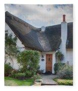 Thatched Cottage Fleece Blanket