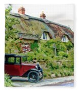 Thatched Cottages At Reybridge Fleece Blanket by Paul Gulliver