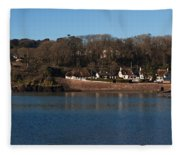 Thatched Cottages In A Town, Dunmore Fleece Blanket