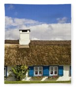 Thatched Country House Fleece Blanket