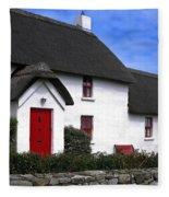 Thatched Roof House Fleece Blanket