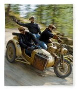 That's The Way To Ride An Army Bmw R75  Fleece Blanket