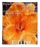 Thats What Faith Can Do Fleece Blanket