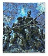 The 107th Infantry Memorial Sculpture Fleece Blanket